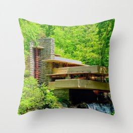Frank Lloyd Wright | architect | Fallingwater Throw Pillow