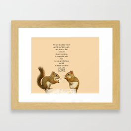 Love.  Quote by Dr. Suess. Framed Art Print