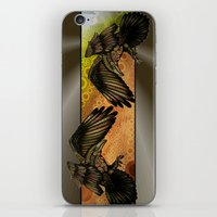 raven iPhone & iPod Skins featuring Raven by Alohalani