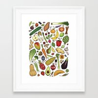 food Framed Art Prints featuring Food by Sam Magee