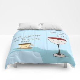 Coffee vs Wine Comforters