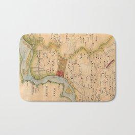 Vintage Map of Philadelphia Pennsylvania (1750) Bath Mat