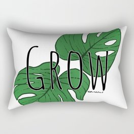 Grow (Monstera) - Clear Rectangular Pillow