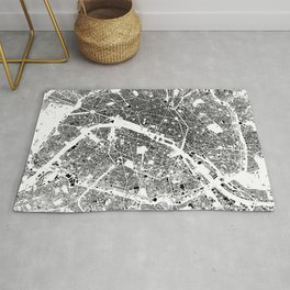 Paris Map Schwarzplan Only Buildings Rug