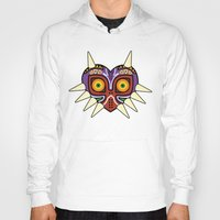 majoras mask Hoodies featuring Majoras Mask by fiono