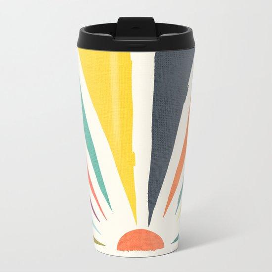 Rainbow ray Metal Travel Mug