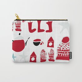 winter gear white Carry-All Pouch
