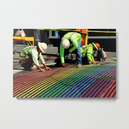 Laying It On The Line Metal Print