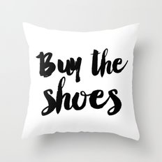 Buy The Shoes Throw Pillow