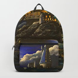 Castel at Starry night Backpack