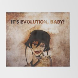 Do the Evolution, Baby! Throw Blanket