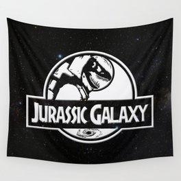 Jurassic Galaxy - White Wall Tapestry