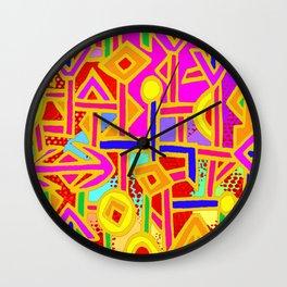 Vagabond Wanderer MaP Wall Clock