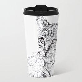 Cat Ink Drawing Travel Mug