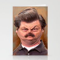 swanson Stationery Cards featuring Swanson by Jason Seiler