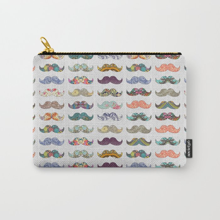 Mustache Mania Carry-All Pouch