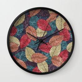 Let the Leaves Fall #03 Wall Clock