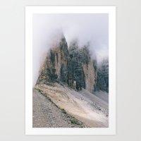 The shrouded peaks || Art Print