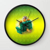 sofa Wall Clocks featuring Family sofa by Bakal Evgeny