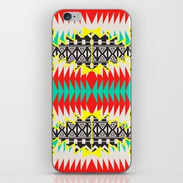 Tribal Beat Geo Neon iPhone Skin