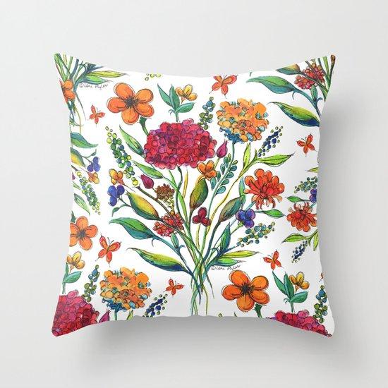 Spring Floral  Throw Pillow
