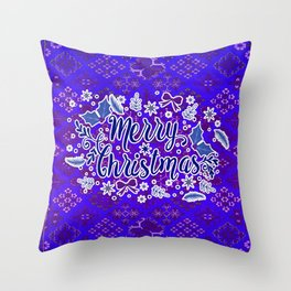 -A31- Merry Christmas Traditional Style. Throw Pillow