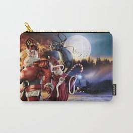 Holiday Christmas Night Winter Snowfall Moon House Carry-All Pouch