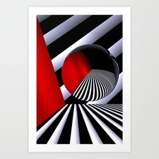 red white black -21- Art Print