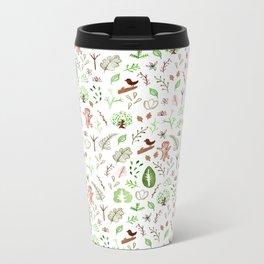 Nature Pattern Metal Travel Mug