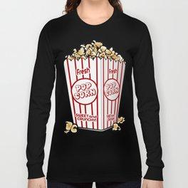 Cartoon Sweet Popcorn Long Sleeve T-shirt