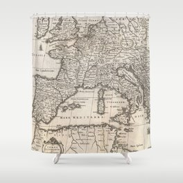 Vintage Map of Europe (1852) Shower Curtain