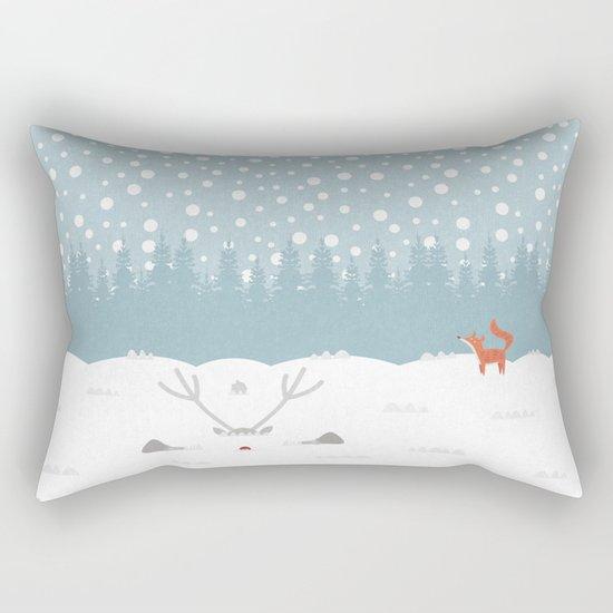 Deep Snow Rectangular Pillow
