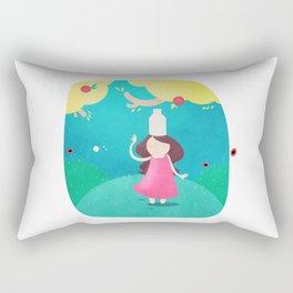 The Milkmaid and the Pot of Milk Rectangular Pillow