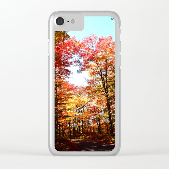 Eastern Quebec in Autumn Clear iPhone Case