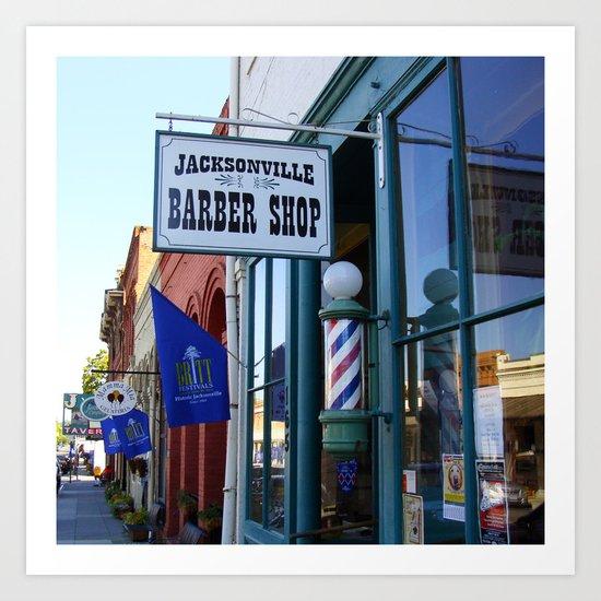 Jacksonville Barber Shop Art Print