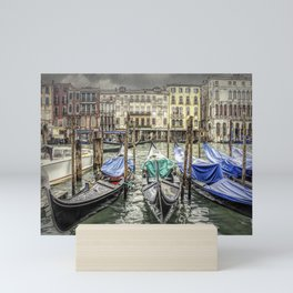 Rainy Day on The Grand Canal in Venice Mini Art Print