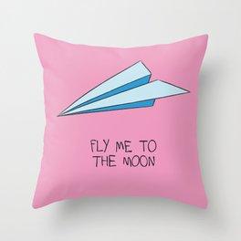Paper Plane Throw Pillow