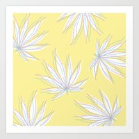 weed Art Prints featuring weed by Estelle F