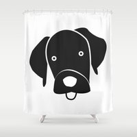 labrador Shower Curtains featuring Labrador by anabelledubois