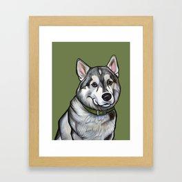 Aspen the Husky Framed Art Print