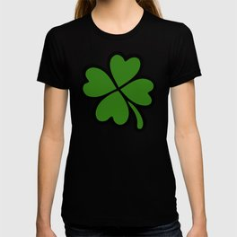 Lucky Four Leaf Clover Pattern T-shirt