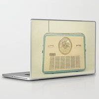 radio Laptop & iPad Skins featuring Radio Days by Cassia Beck