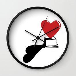 Pedestal love Wall Clock