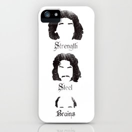 Strength Steel Brains iPhone Case