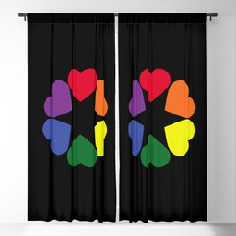 LGBT pride hearts Blackout Curtain