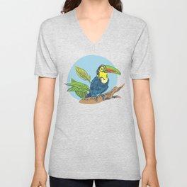 Tropical bird Unisex V-Neck