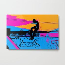 On Edge - Skateboarder Metal Print
