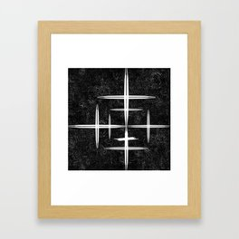 Black and White Hop Scotch Cris Cross Framed Art Print