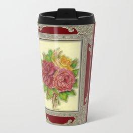 Bunch of Roses red design Metal Travel Mug