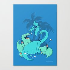 Polo with Dinosaurs Canvas Print